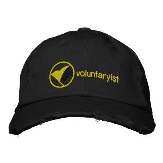 Voluntaryist bordó el gorra gorras bordadas