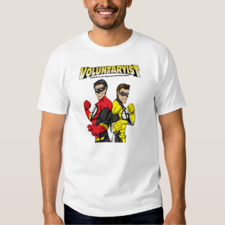 Voluntaryist Cartoon Hero T-Shirt