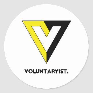 Voluntaryist. Classic Round Sticker