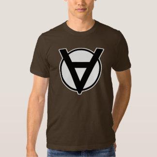 Voluntaryist Hero Symbol with White Border T-shirt