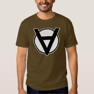 Voluntaryist Hero Symbol with White Border Tee Shirt