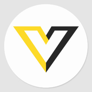 Voluntaryist V Classic Round Sticker