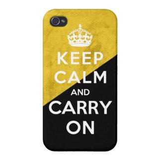 Voluntarysist Grunge Flag Keep Calm and Carry On iPhone 4 Cases