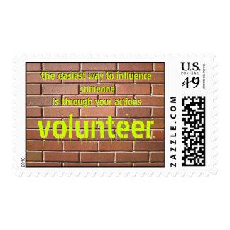Volunteer (2) postage