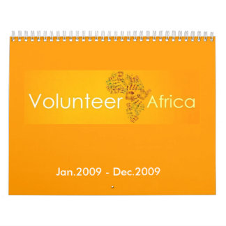 Volunteer Africa - Customized Calendar