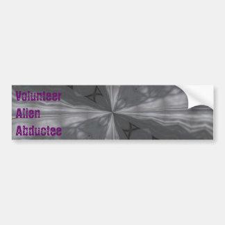 Volunteer Alien Abductee Bumper Sticker