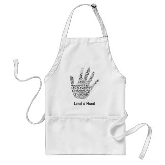 Volunteer Awareness: Lend a Helping Hand Adult Apron