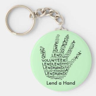 Volunteer Awareness: Lend a Helping Hand Basic Round Button Keychain
