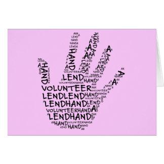 Volunteer Awareness: Lend a Helping Hand Card