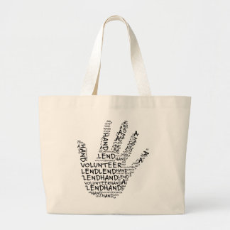 Volunteer Awareness: Lend a Helping Hand Large Tote Bag