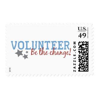 Volunteer Be The Change Stamps