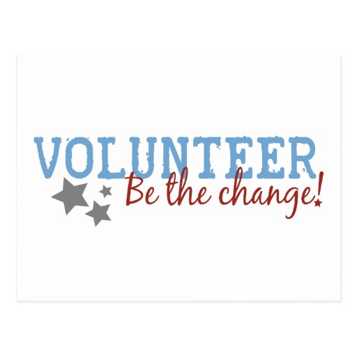 Volunteer Be The Change Postcards