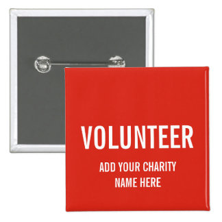VOLUNTEER BUTTON PIN | RED