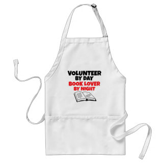 Volunteer by Day Book Lover by Night Adult Apron