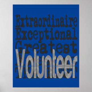 Volunteer Extraordinaire Poster