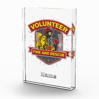 Volunteer Fire and Rescue Acrylic Award
