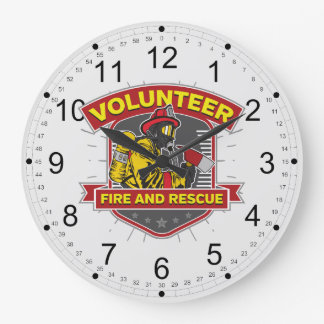 Volunteer Fire and Rescue Large Clock