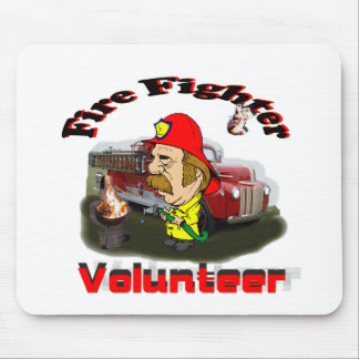 Volunteer Fire Fighter show Mouse Pad