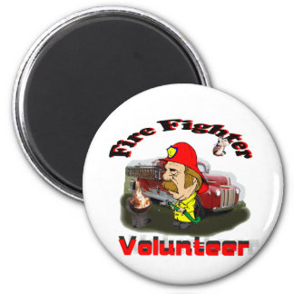 Volunteer Fire Fighters 2 Inch Round Magnet