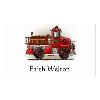 Volunteer Fire Truck Business Card