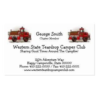 Volunteer Fire Truck Business Card Templates