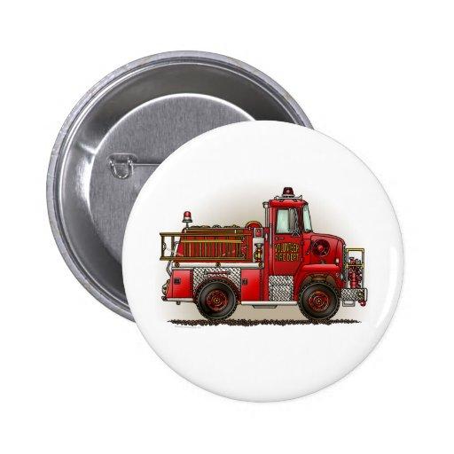 Volunteer Fire Truck Button Pin