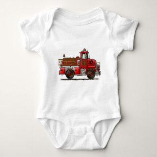 Volunteer Fire Truck Firefighter Baby Bodysuit