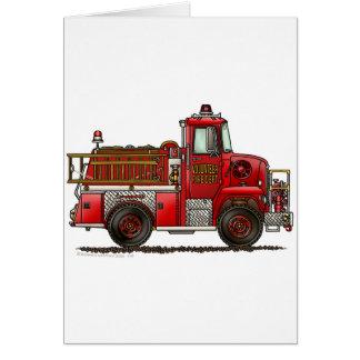 Volunteer Fire Truck Firefighter Card