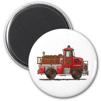 Volunteer Fire Truck Firefighter Magnet