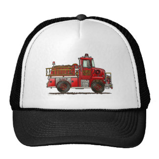 Volunteer Fire Truck Firefighter Trucker Hat