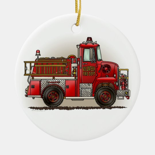 Volunteer Fire Truck Ornament