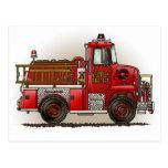 Volunteer Fire Truck Postcard