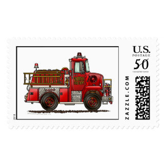 Volunteer Fire Truck Stamps
