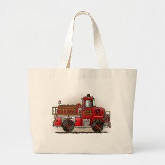 Volunteer Fire Truck Tote Bag