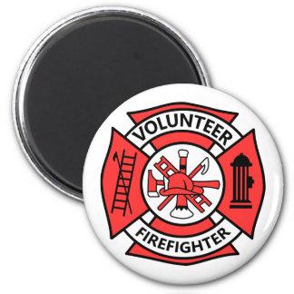 Volunteer Firefighter 2 Inch Round Magnet