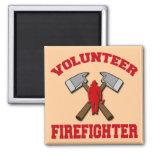 VOLUNTEER FIREFIGHTER 2 INCH SQUARE MAGNET
