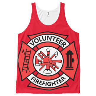 Volunteer Firefighter All-Over-Print Tank Top
