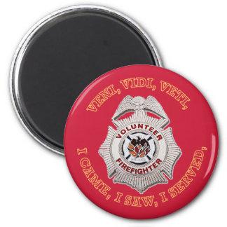 Volunteer Firefighter Badge Refrigerator Magnet