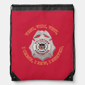 Volunteer Firefighter Badge Cinch Bag