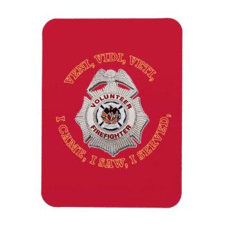 Volunteer Firefighter Badge Magnet