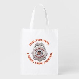 Volunteer Firefighter Badge Market Tote