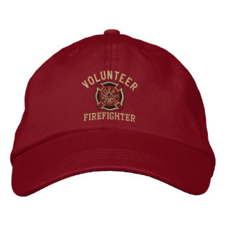 Volunteer Firefighter Custom Embroidery Embroidered Baseball Cap