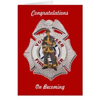 Volunteer Firefighter Custom Greeting card