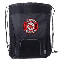 Volunteer Firefighter Drawstring Backpack