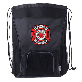 Volunteer Firefighter Drawstring Backpack