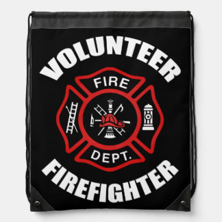 Volunteer Firefighter Drawstring Bag