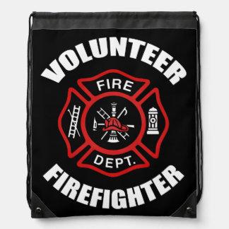 Volunteer Firefighter Drawstring Bag