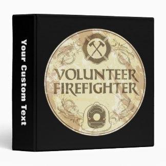Volunteer Firefighter Grunge 3 Ring Binder