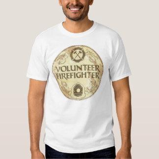 Volunteer Firefighter Grunge T Shirt