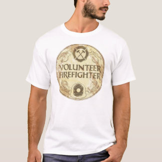 Volunteer Firefighter Grunge T-Shirt